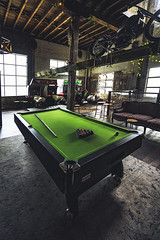 Smoked Garage (Leighton Wallis) Tags: sony alpha a7r mirrorless ilce7r 55mm f18 emount 1635mm f40 brisbane qld queensland australia bike motorcycle cafe diner pool billiards