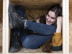 Eugenia in the box (marco monetti) Tags: beautifulgirl bellaragazza woman donna box scatola smile sorriso friend amica friendship amicizia