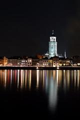 Deventer by Night (l-vandervegt) Tags: 2019 nikon d3200 tamron nederland netherlands hollande paysbas holland overijssel deventer skyline lebuinuskerk nacht night