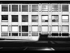 (Delay Tactics) Tags: copenhagen denmark window squares rectangles oblongs grill sunlight railings facade black white blackandwhite monochrome offices