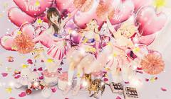 拉拉队 (imp朣) Tags: pink girl secondlife cute life cat flower heart cheer altair insomnia angel nomad miwas inori