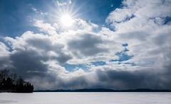 Winter sun (LEXPIX_) Tags: sunburst sunbeam starburst sunrays winter frozen sun clouds lake horizon adk desolate lakechamplain vermont vt newengland snow spring 2019 sony rx10 mkiv m4 oneinchsensor 7 sensor superzoom compact bridge camera lexpix