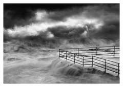 The Squall (picturedevon.co.uk) Tags: shoalstone pool lido brixham torbay devon uk abstract fineart bw blackandwhite mono seascape storm sea water weather sky clouds waves coast winter drama motion canon picturedevoncouk
