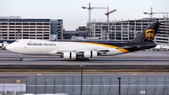 MSP N614UP (Moments In Flight) Tags: minneapolisstpaulinternationalairport kmsp msp mspairport boeing ups upsairlines 747 7478 7478f n614up firstrevenueflight ups2560 sdfmsp