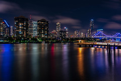 brisbane city (Greg M Rohan) Tags: sky clouds colour lights nightlights nighttime night longexposure nightphotography buildings building skyscrapers skyscraper skyline cityscape architecture river australia queensland brisbanecity brisbaneriver brisbane brissy d750 2018 nikon nikkor