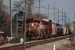 The Barn is Back (DonnieMarcos) Tags: berwyn berwynil cn cnr canadiannational illinoiscentral ic icrr illinois chicago chicagorails rails railroad railway railfanning railfan rail railroads trains train trainspotting traintrack traintracks generalelectric ge c408m bcrail bcol m337 cnm337 cnm33791 m33791