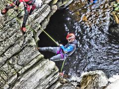 Trust (Tobymeg) Tags: rope trust climb pitlochry river rocks scotland falls bruar panasonic dmcfz72