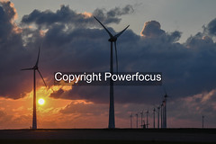 Friday evening Sunset (powerfocusfotografie) Tags: windturbine energy backlight silhouette dusk action running sun sunset evening outdoors landscape groningen holland henk nikond90 powerfocusfotografie