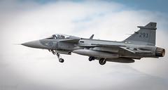 Saab JAS-39C Gripen-523 (carianneimages) Tags: switzerland 2018 fairfordairshow saabjas39cgripen aircraft riat 293