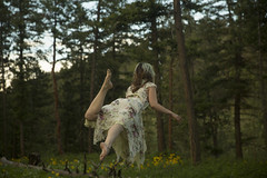 Flying by (Lichon photography) Tags: lichonphotography levitation green forest knox tree park okanagan kelowna canada canadian conceptual creative conceptualphotography concept spring woman female back face faceless wow idea