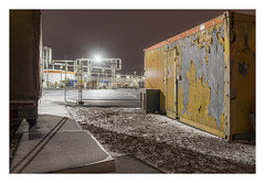 Center for asylum seekers (Markus Lehr) Tags: container infrastructure urbanlandscape night nightshot longexposure availablelight asylumseekers manmadelandscape atmosphere contemporaryphotography berlin germany markuslehr