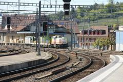 "Sersa Group MaK 1700BB Am 843 152 ""Barbara"" (Ray's Photo Collection) Tags: spiez switzerland mak1700 barbara 152 843 sersagroup mak1700bb sersa be railway station bahnhof schweiz suisse swiss am"