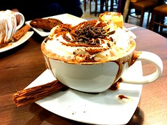 Hot chocolate anyone? (explored 16/2/19) (flowergirlaaa) Tags: shadesofbrown smileonsaturday cupandsaucer food hot treat cake cafe chocolate drink explored 129
