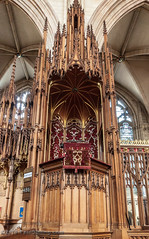 Quire Pulpit @ York Minster - York, England, UK (Paul Diming) Tags: dailyphoto dioceseofyork landscape winter choir perpendiculargothic earlyenglish unitedkingdom 2010uk yorkshireandthehumber britain pulpit uk pauldiming england cathedral decoratedgothic provinceofyork greatbritain cathedralandmetropoliticalchurchofsaintpeterinyork yorkengland fall architectural quire gothicstyle archbishopofyork yorkminster yorkcounty york minster highchurch d5000 churchofengland gb