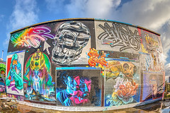 Meeting of Styles 2018. (Suggsy69) Tags: nikon d5200 graffiti art meetingofstyles 2018 nomadiccommunitygarden shoreditch eastlondon london fisheye fisheyelens wideangle hdr highdynamicrange yonder jeba fanakapan jimvision core246 aches samer kaes irony