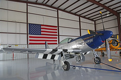 NL851D (DS) North American P-51D Mustang United States Air Force Colours 'Crazy Horse' American flag Kissimmee Municipal 25th October 2018 (michael_hibbins) Tags: nl851d ds north american p51d mustang united states air force colours crazy horse kissimmee municipal 25th october 2018 aeroplane aerospace aviation aircraft airplane aero airfields airport airports civil general historic history retro exmilitary ww2 wwii n america usa us