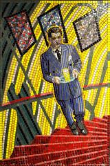 Suspicion (R~P~M) Tags: art mosaic mural alfredhitchcock film movie train railway station leytonstone centralline londonunderground london england uk unitedkingdom greatbritain