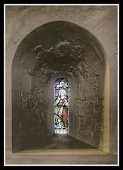 Inside Norman Window (veggiesosage) Tags: stmaryschurch eastleake church historicchurch nottinghamshire normanchurch gx20 grade1listed hdr aficionados