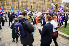 London 2018 – Brexit protests outside Parliament (Michiel2005) Tags: brexit protest parliament england engeland grootbrittannië greatbritain britain uk vk unitedkingdom verenigdkoninkrijk london londen