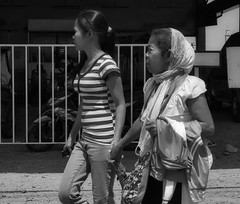 This way (Beegee49) Tags: street people mother daughter holding hands blackandwhite monochrome bw luminar sony a6000 bacolod city philippines asia