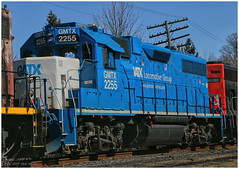 GMTX 2255 (Looking for something to post!!) Tags: canon eos 70d 18135mmstm psp2019 paintshoppro2019 efex topaz canadiannational ontario canada guelph railway dieselengine diesel trains gatx gmtx geotagged