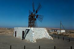 Fuerteventura landscape (piotr_szymanek) Tags: fuerteventura landscape blue sky outdoor windmill 1k 20f