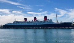 Queen Mary, Long Beach Harbor, CA (- Adam Reeder -) Tags: y2019 m03 d15 lat340 lon1180 downtown long beach los angeles california united states photo jpg apple iphone x queen mary harbor ca