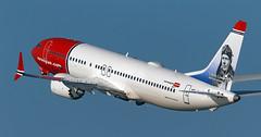 Norwegian / Boeing 737 MAX 8 / SE-RTA (vic_206) Tags: bcn lebl spotting norwegian boeing737max8 serta