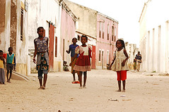 Mozambique, Ilha de Mozambique, view of children standing on street outside buildings (anthonyasael) Tags: africa african afrika architecture barefoot baseball black boy boys building casual child children childrenonly colonial companion cricket elementaryage enjoyment fence friend friendship fun game girl girls happiness happy ilhademozambique kid kids leisure mocambique mozambique mud people person play playful playing poor poverty railing southernafrica stand standing structure mozambiquemocambique