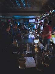 (Derock.) Tags: dawson street pub bar low light blue shadows lights night life nightlife exploringnight drink manayunk philadelphia pa pennsylvania east coast bars iphone 8 iphonography mobile