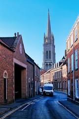 Louth church spire (Mallybee) Tags: stphotographia louth church lincolnshire fuji fujifilm xt3 27mm f28 mallybee colour spire apsc xtrans road van fujinon