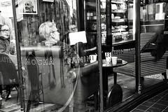 Cafe Culture (Bury Gardener) Tags: monochrome mono burystedmunds bw blackandwhite britain england eastanglia uk people peoplewatching folks nikond7200 nikon english 2019 streetphotography suffolk street streetcandids snaps strangers candid candids abbeygatestreet