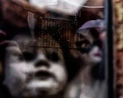 Incubi notturni (photograph61) Tags: riflessi deformato astratto bambole vetrina