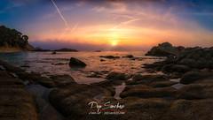 Fly in Cala Estreta (PepinAir) Tags: calaestreta costabrava girona landscape palamos panorama panoramic spark beach paissatge sun sunset montrás cataluña españa es