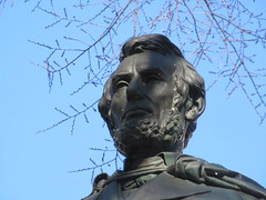 President Abraham Lincoln Bronze statue Union Square Park 1544 (Brechtbug) Tags: former president abraham lincoln bronze statue union square park artist sculptures statues manhattan new york city 2019 nyc art arts world abe characters next tourists february 02162019 presidents day life size portrait portraits urban winter season stair stairs step facade museum front entrance top hat tophat stove pipe hats formal dress politician politics political gent
