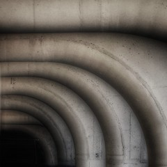 Brutalist Concrete Abstraction (2n2907) Tags: blackwhite concrete curves curved geometry abstraction brutalism graphic bridge olympus omd mirrorless grunge