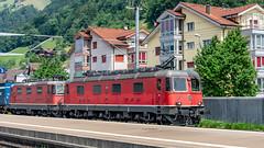 SBB Re 6'6 11684 & Re 4'4 2 11329 Fluelen 16 July 2015 (1) (BaggieWeave) Tags: switzerland swisstrains swissrailways sbb cff ffs fluelen re44 re66 gotthardrailway gotthard gotthardbahn