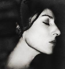 Smoke & Mirrors (.Betina.) Tags: woman fineart betinalaplante blackandwhite monochrome mood mono moody mouth sleep profile dark 2019 bb self selfportrait