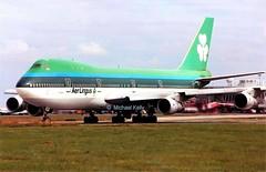 Aer Lingus                                     Boeing 747                                  EI-BED (Flame1958) Tags: aerlingus aerlingusb747 boeing boeing747 b747 747 jumbojet dub eidw dublinairport 1990s scan print