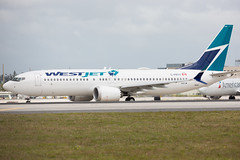 2019_02_23 MIA stock 737 MAX (jplphoto2) Tags: 737 737max boeing737 boeing737max cfryv jdlmultimedia jeremydwyerlindgren kmia mia miamiinternationalairport usatoday westjet westjet737max8 aircraft airline airplane airport aviation