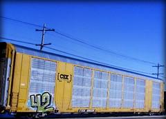 (timetomakethepasta) Tags: goes 42 freight train graffiti art csx autorack