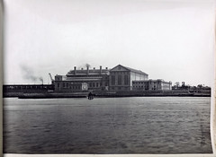 Newport Power Station. General View of Station from river front. (Public Record Office Victoria) Tags: railways train electrification blackandwhite archives victoria power station river 1919