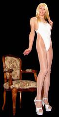 0113 (Youko_Kishida) Tags: fetish crossdresser tgirl leotard crossdressing pantyhose stocking tights lycra