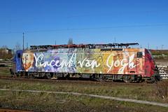 P1790294 (Lumixfan68) Tags: eisenbahn loks baureihe 189 es64 f4 siemens mehrsystemloks werbeloks vincent van gogh sbb cargo mrce dispolok drehstromloks