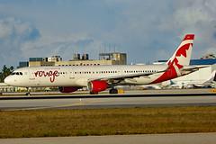 C-FJOU Airbus A321-211SL ROU  MIA (Jetstar31) Tags: cfjou airbus a321211sl rou mia