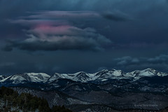 Genesis (foto guy Terry) Tags: awakening dawn morning sunrise sky clouds mountains landscape snow color blue red