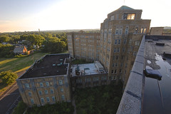Seeping Sun (jgurbisz) Tags: jgurbisz vacantnewjerseycom abandoned nj newjersey essexcountyisolationhospital decay asylum roof