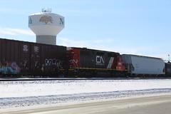 The Beast (recekasten) Tags: cn railroad ns signals wisconsin neenah medina junction 446 zebra beast eje bnsf