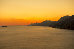 Amalfi sunset (feisas) Tags: italy campania amalfi hike mountains coast ocean water clouds sky sunset color vivid colorful adventure travel remarkable beautiful bagus hiking walk sentierodeglidei sonya7 fullframe grazie bella evening orange bright light dark cliffs hills