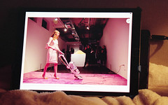 ipad / digital news (bluebird87) Tags: woman pink film kodak ektar nikon f5 lightroom dx0 c41
